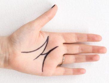 """Если у вас на ладони есть буква """"М"""", вот что это значит. Неожиданно!"""
