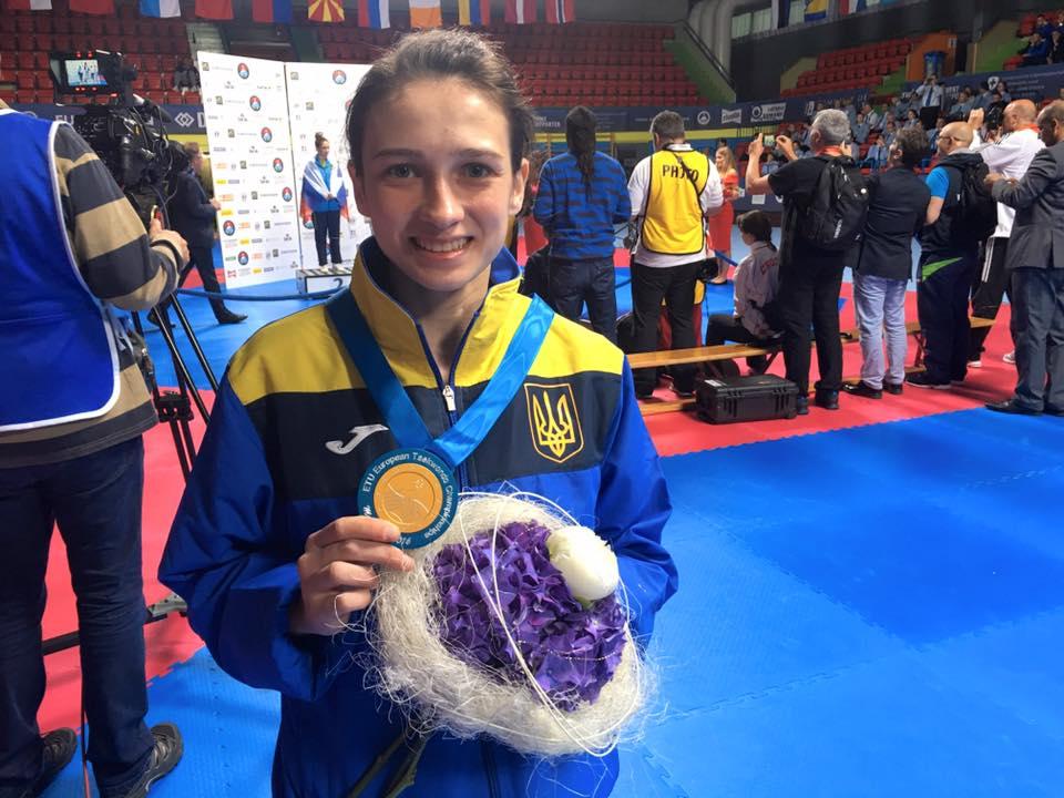 Впервые за 10 лет Украинка выиграла для страны «золото» по тхэквондо