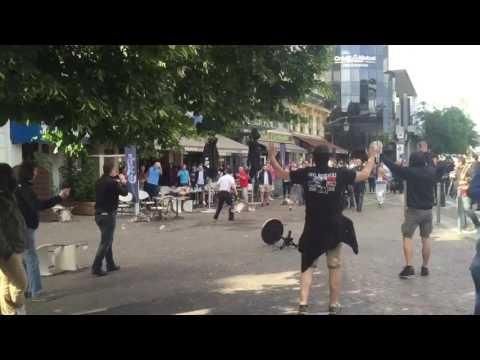 Россияне снова напали на английских болельщиков (видео)