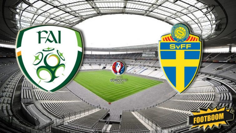 Евро-2016. Ирландия — Швеция — 0: 0. Первый тайм.