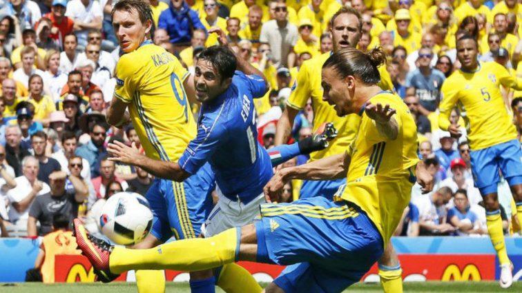 Сборная Италии выиграла у шведов на Евро-2016