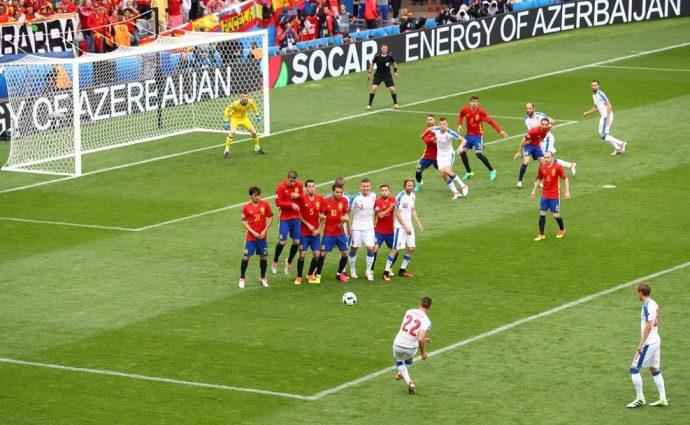 Евро-2016. Испания — Чехия — 0: 0. Первый тайм.