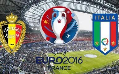 Евро-2016. Бельгия — Италия — 0: 1. Первый тайм.