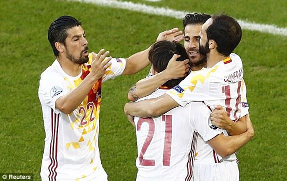 Евро-2016. Хорватия — Испания — 1: 1, Чехия — Турция — 0: 1. первый тайм