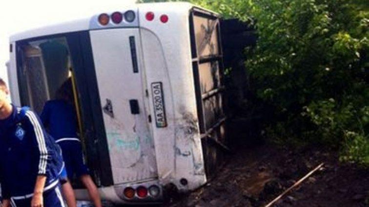 Автобус с футболистами «Динамо» попал в ДТП и перевернулся
