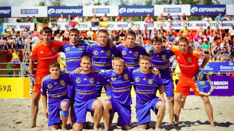 Украинцы разгромили Францию в первой игре отбора Евролиги по пляжному футболу