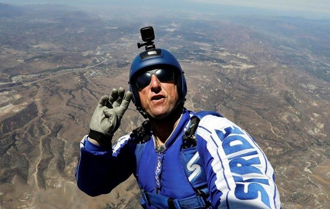 Американец прыгнет с самолета без парашюта