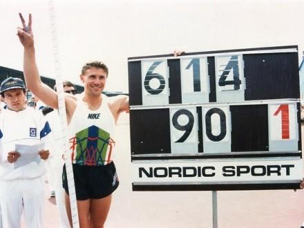 Двадцать два года назад С.Бубка установил мировой рекорд в прыжках с шестом