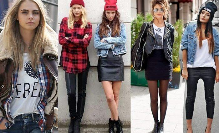 Многослойность, небрежность, рваная одежда — стиль гранж выбирают самые смелые модницы
