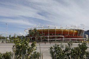 epa05392700 Exterior view of the Olympic Tennis Centre venue in Rio de Janeiro, Brazil, 26 June 2016.  EPA/MARCELO SAYAO