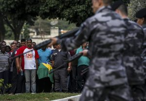 Funeral of Brazilian military policeman killed during an attempt of robbery in Rio de Janeiro