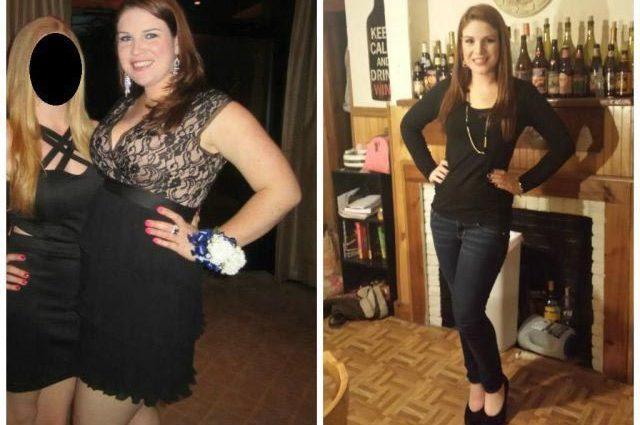 Счастливые девушки до и после внушительного похудения
