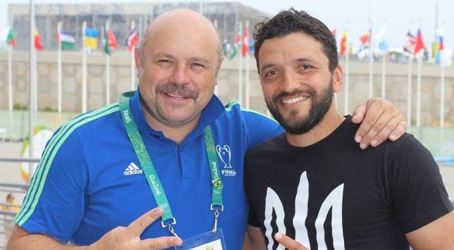 Как Эдмар с трезубцем на груди болеет за Украину на Олимпиаде-2016