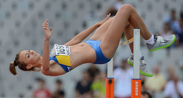 BARCELONA, Spain: Sunday 15 July 2012, Iryna Herashchenko of Ukraine in the women's high jump final during day 6 of the IAAF World Junior Championships at the Estadi Olimpic de Montjuic. Photo by Roger Sedres/ImageSA