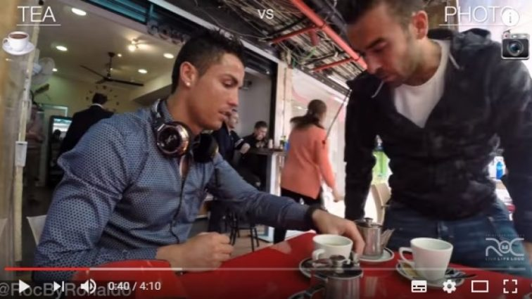 Эксперимент Криштиану Роналду стал хитом на Youtube
