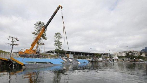 Часть конструкций для проведения Олимпиады-2016 завалилась