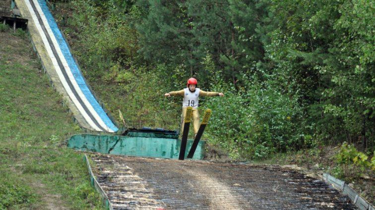 На Тернопольщине спортсмены прыгали с трамплина вместе с представителями Польши и Латвии