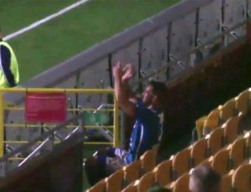 Известный футболист бурно отпраздновал гол (видео)