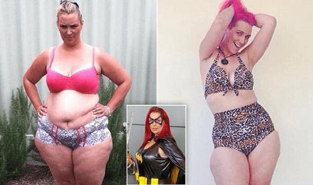 Этой женщине удалось похудеть на 65 кг при помощи костюма суперженщины