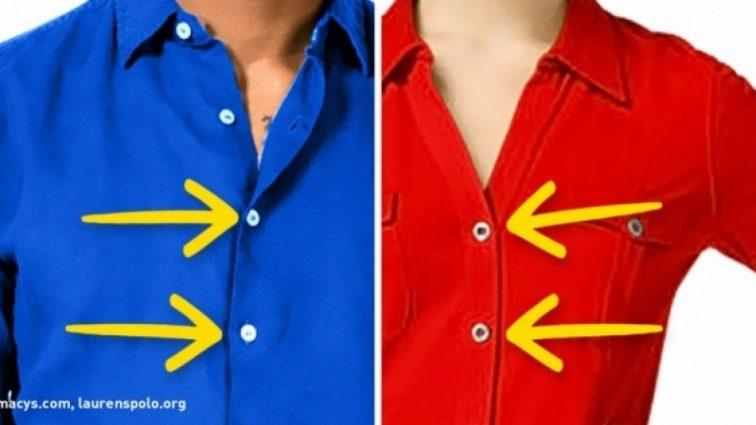 Так вот почему пуговицы на мужских и женских рубашках на разных сторонах