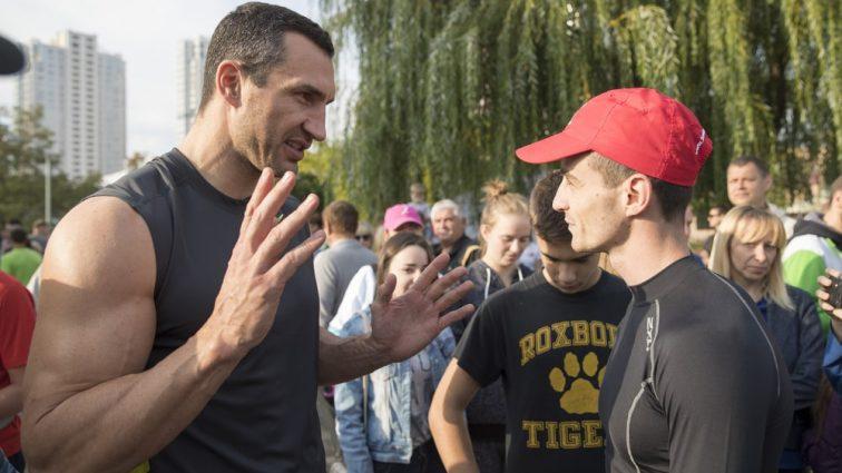 Кличко провел тренировку с потерявшим ногу воином АТО: впечатляющие фото