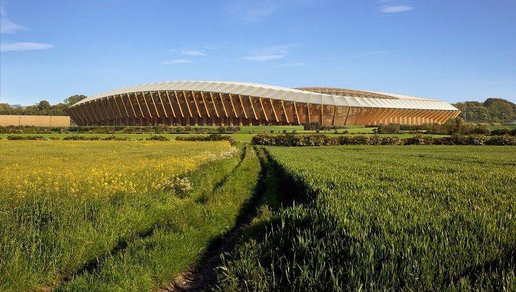 Как будет выглядеть первый в мире полностью деревянный стадион