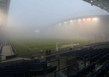 В Англии перенесли матч из-за тумана