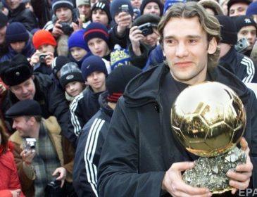 Шевченко включили в пятерку самых незаслуженных обладателей Золотого мяча