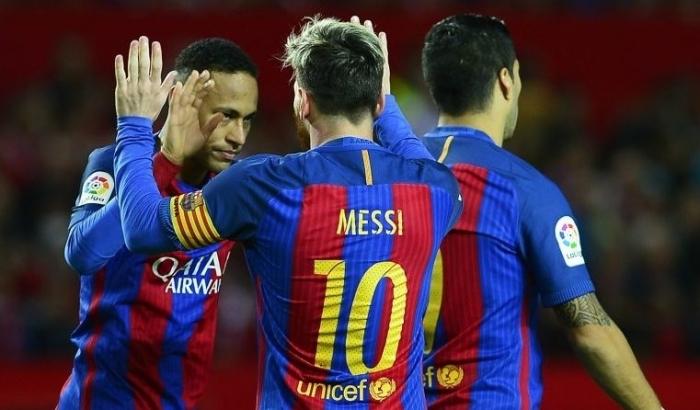 Месси сделал дубль в матче «Барселона» — «Осасуна»