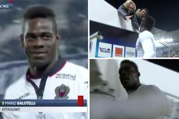 Итальянский футболист после удаления толкнул камеру и отдал футболку болельщикам (видео)