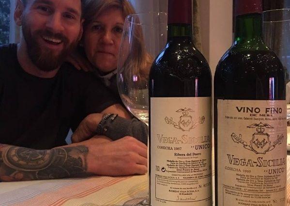 Месси угостил мать вином за 500 евро