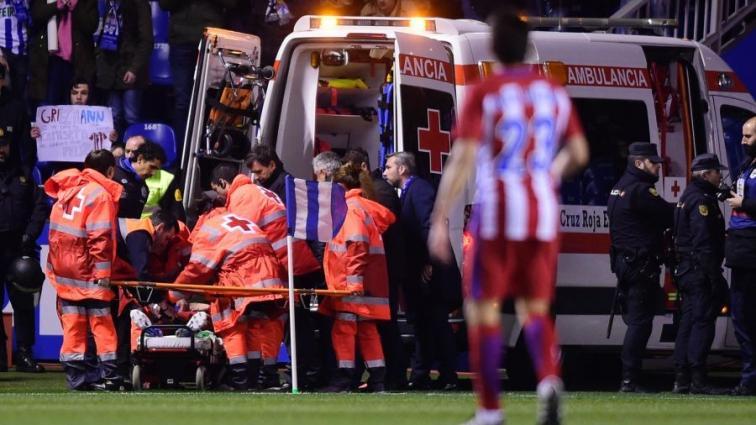 Фернандо Торрес получил серьезную травму головы в матче чемпионата Испании