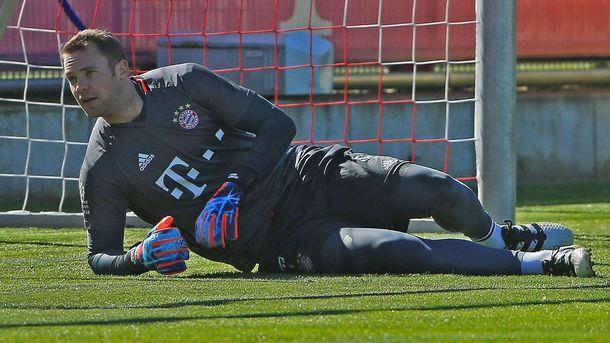 Нойер пропустит два ближайших матча «Баварии» из-за травмы