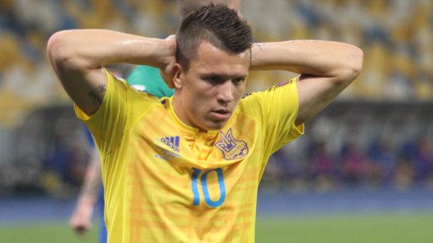 Коноплянка не забивает за сборную Украины больше 1000 минут