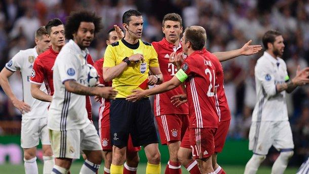 Футболисты «Баварии» после матча в Мадриде ворвались в раздевалку арбитров