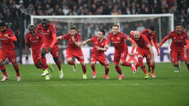 «Лион» по пенальти обыграл «Бешикташ» в четвертьфинале Лиги Европы