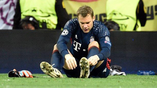 Вратарь «Баварии» Мануэль Нойер в матче Лиги чемпионов сломал ногу