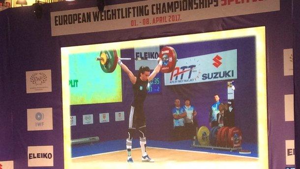 Тяжелоатлетка Вероника Ивасюк выиграла малое «серебро» чемпионата Европы