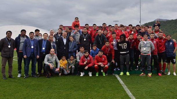 «Габала» с Романом Григорчуком впервые выиграла «серебро» чемпионата Азербайджана