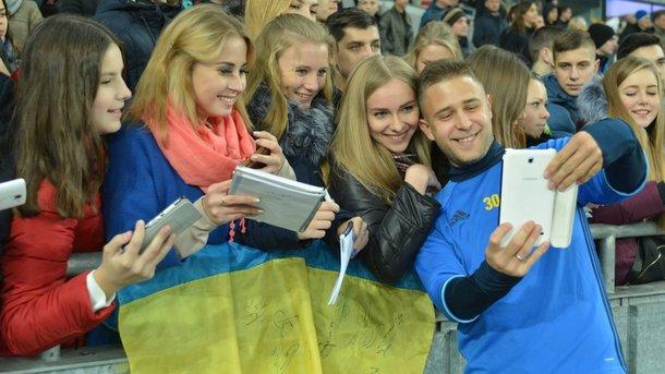 Сборная Украины проведет традиционную открытую тренировку для болельщиков