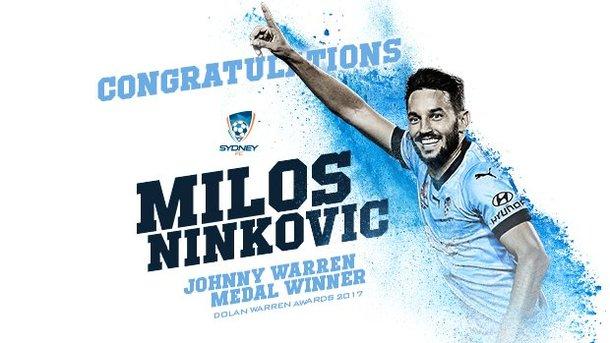Милош Нинкович признан лучшим игроком чемпионата Австралии