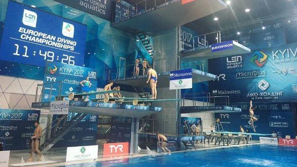 Украинцы снова стали серебряными на домашнем ЧЕ по прыжкам в воду