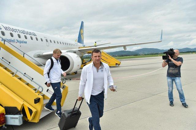 Сборная Украины прибыла на сбор в Австрию