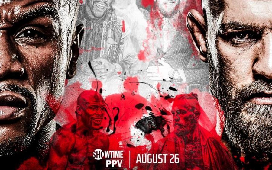 Вышел официальный постер боя Макгрегор — Мейвезер