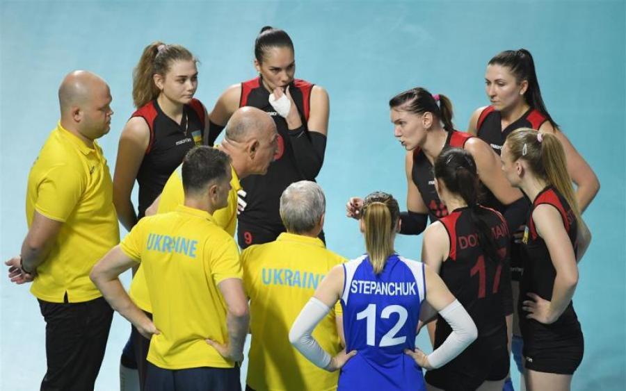 Украинские волейболистки выиграли первый полуфинальный матч Евролиги