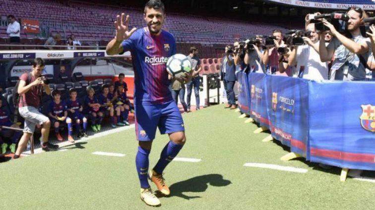 Новичок Барселоны опозорился на презентации
