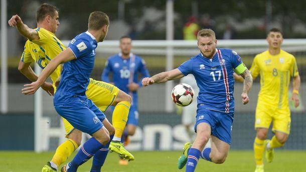 Сборная Украины проиграла Исландии в отборе на ЧМ-2018