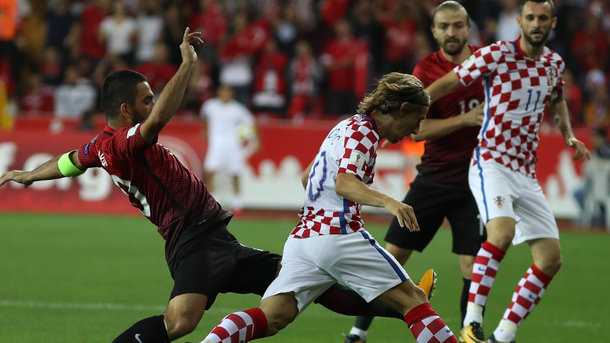 Сборная Турции обыграла Хорватию в отборе на ЧМ-2018