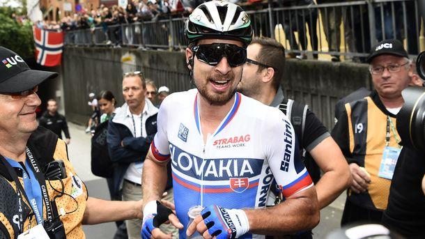 Петер Саган третий раз подряд выиграл «золото» в групповой гонке чемпионата мира