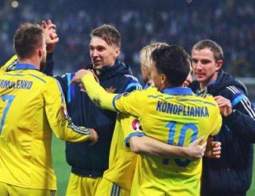 Сборная Украины одержала волевую победу над словаками